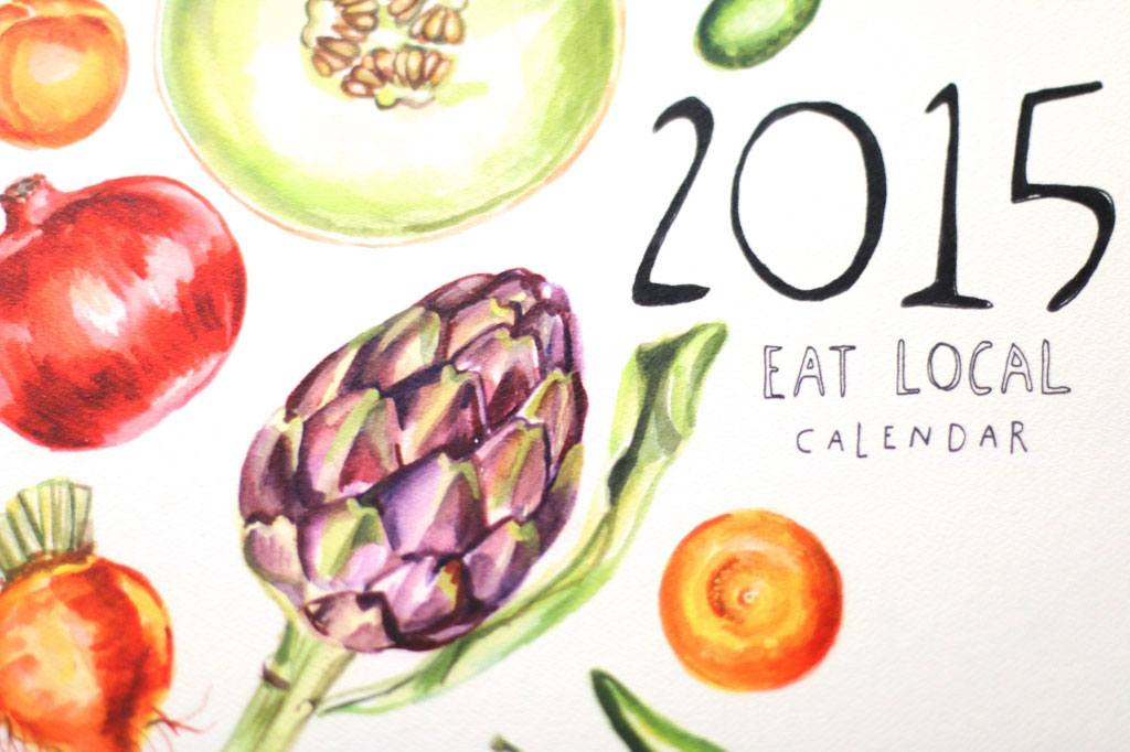 maria schoettler, 2015 calendar, local food calendar