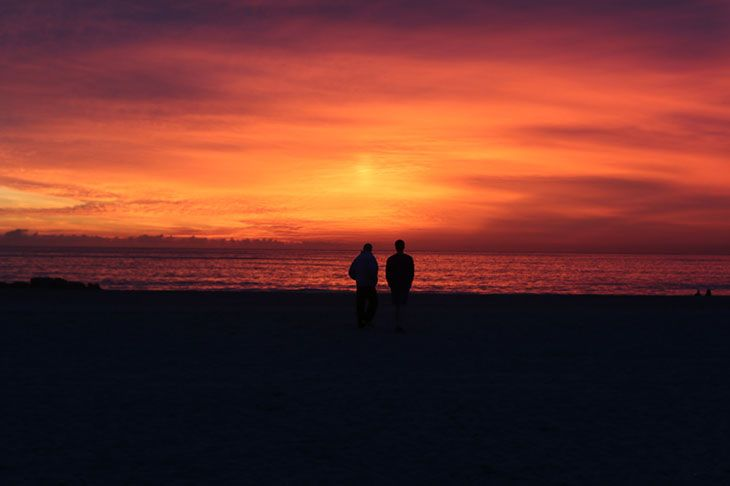 venice, california, beach, sunset