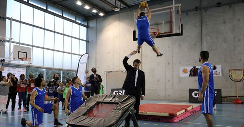 Trampoline Basketball Hoop and Goal